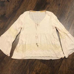 Hint of Mint boho blouse XL